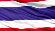 Waving national flag of Thailand video