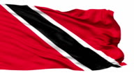 Waving national flag of Trinidad and Tobago video