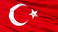 Waving national flag of Turkey video