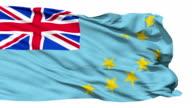 Waving national flag of Tuvalu video
