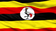 Waving national flag of Uganda video