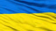 Waving national flag of Ukraine video