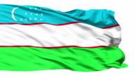 Waving national flag of Uzbekistan video
