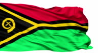 Waving national flag of Vanuatu video