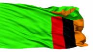 Waving national flag of Zambia video