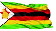Waving national flag of Zimbabwe video