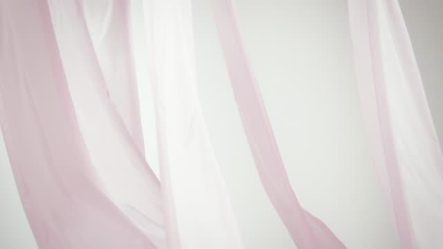 Waving silk curtain video