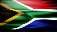 Waving South African flag. video