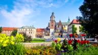 Wawel Royal Castle complex in Krakow, Poland video