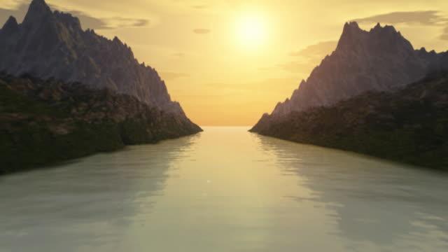 (HD720) Way To the Ocean, Landscape Scene video