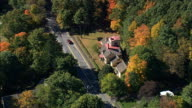 Wayside House  - Aerial View - Massachusetts,  Middlesex County,  United States video