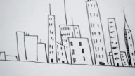 We draw skyscrapers. video