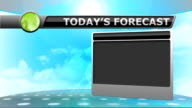 Weather Forecast Animation for broadcast meteorology report video