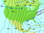 USA weather map animation video