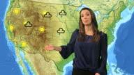 Weather presenter video
