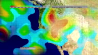Weather Radar Digital Satellite Map (Western US) video