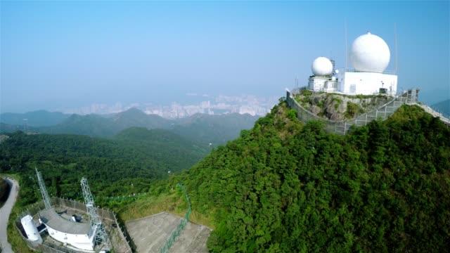 Weather station aerial shot. 4K. video
