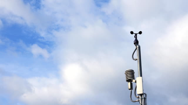 Weather station at high mountain. video