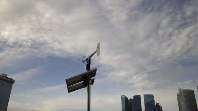 Weather vane with solar cell video