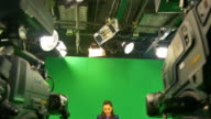 HD: Weathercaster On A Chroma Key Background video