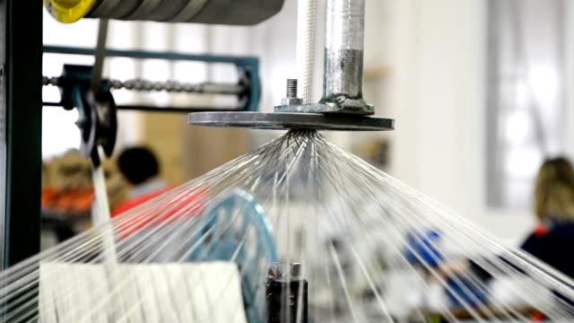 Weaving of metal braid close-up video