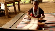 Weaving Silk handmade video