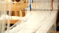 Weaving silk using loom video