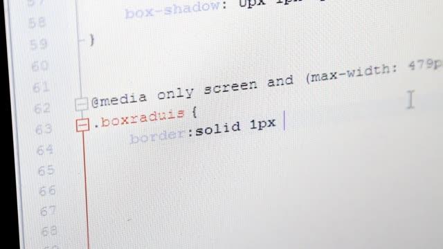 web design css code video