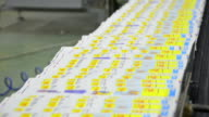 Web Offset Printing Press Folding a Daily Newspaper Stock Video video