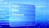 web page login animation video
