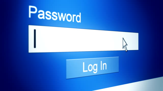 website password login animation with sound video