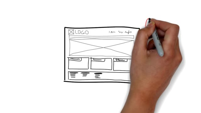website sketch mockup video