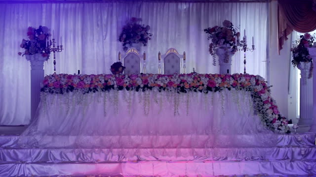Wedding banquet hall video