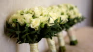 Wedding bouquets of roses video