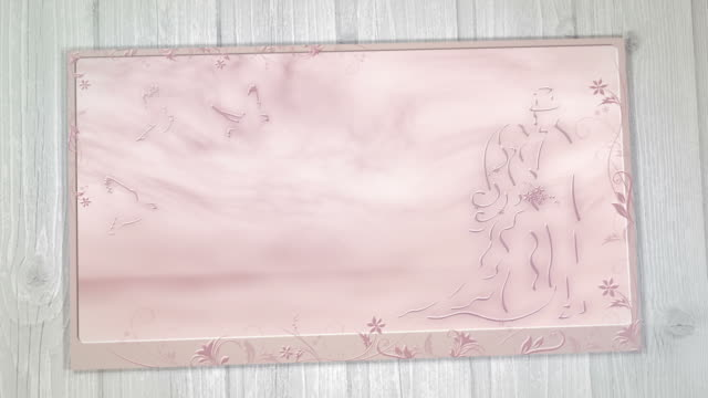 Wedding Card with Best Wishes (pink) video
