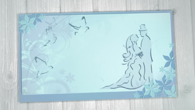 Wedding Card with Best Wishes (blue) video