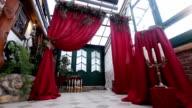 Wedding ceremony and wedding decorations video