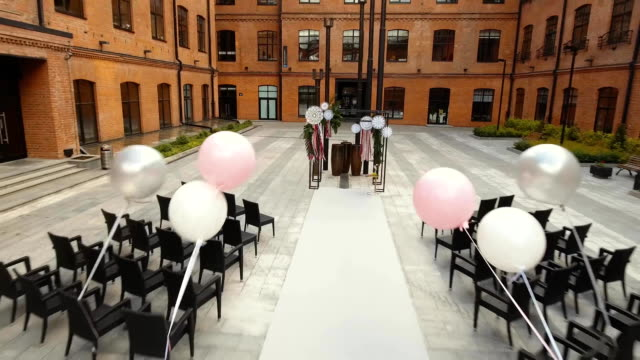 Wedding ceremony arch video