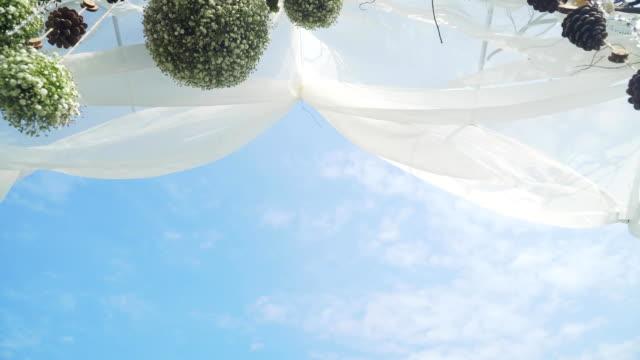 Wedding ceremony arch video