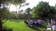 Wedding ceremony in the garden video