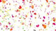 HD Wedding Confetti video