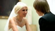 Wedding couple conversation video