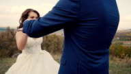 Wedding Couple Having Fun video