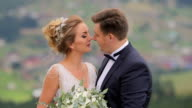 Wedding Couple in Mountains video