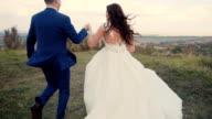 Wedding Couple Runing video