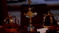 Wedding crowns in Orthodox church video