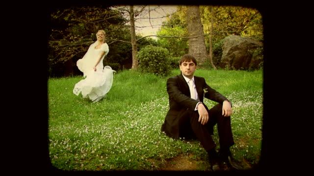 Wedding dance. Old movie video