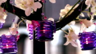 Wedding decoration with purple candles video