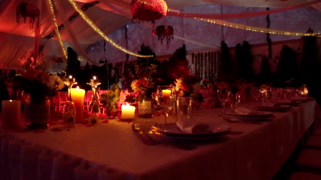 Wedding dinner table video