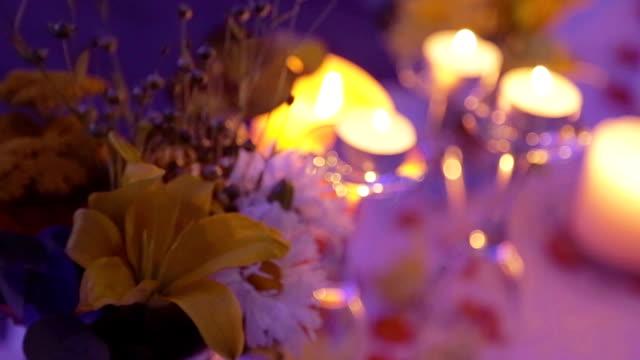 Wedding dinner table video